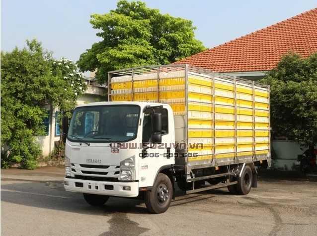 Ô tô chở gia cầm__NQR75LE4__Thùng chở gia cầm có lồng__4995kg 1